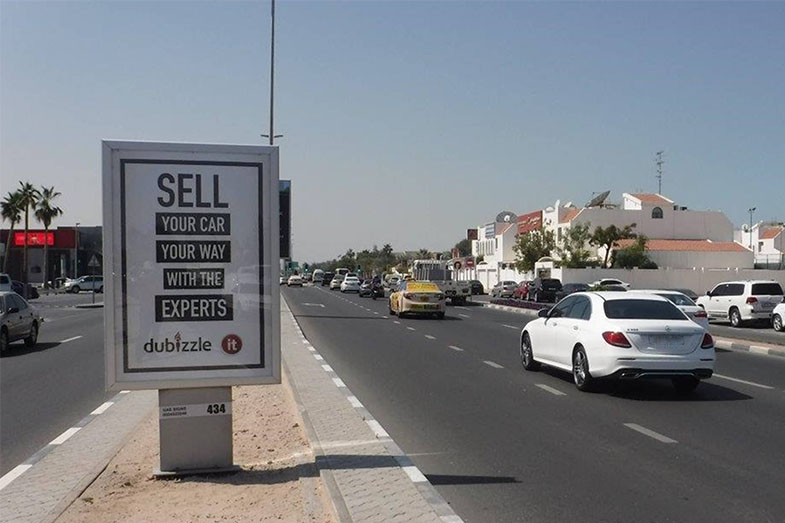 lampposts outdoor advertising uae